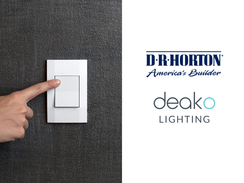 DR horton Americas Builder and deako light switch